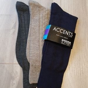 Other - 3 Pair Soft Bamboo Men's Solid Socks
